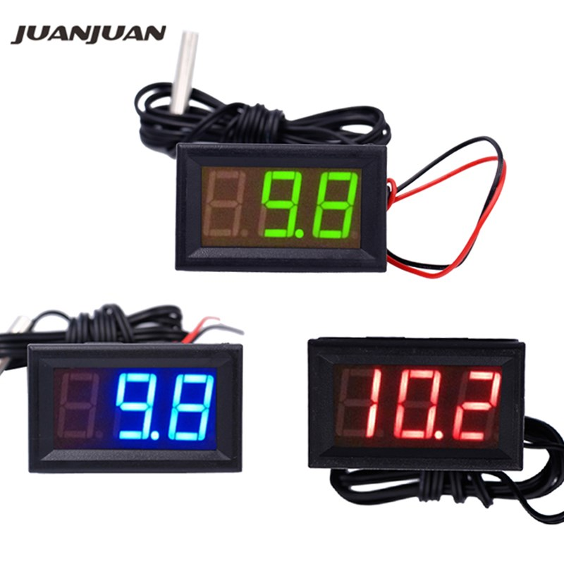 NEW 12V Digital Thermometer Temperature Monitoring Tester With Temp Probe LED Meter -50~100C 20% Off