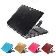 Premium Leder Smart Holster Schutzhülle tasche Fall Abdeckung für MacBook Air Pro Retina 11 12 13 15 Zoll Ultra macbook fall
