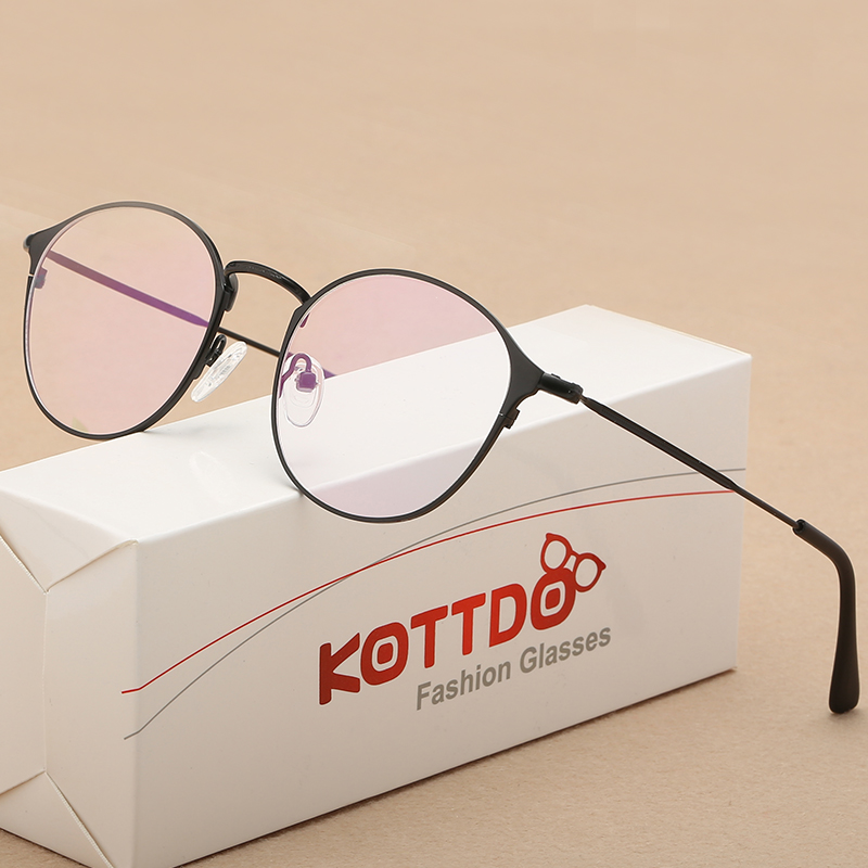 Fashion Golden Metal Frame Eyeglasses For Woman Man Female Male ...
