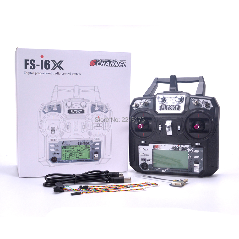 Flysky FS-i6X FS I6X 2.4GHz 10CH RC Transmitter With i-BUS IA6B X6B A8S IA10B Receiver For RC Heli Quadcopter Airplane model 2 1 set fs i6x 10ch 2 4ghz afhds 2a rc transmitter with fs ia6b fs ia10b fs x6b fs a8s receiver for remote control plane model