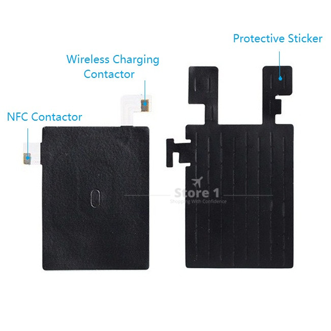 Qi Wireless Charging Receiver & NFC Antenna Chip Flex for LG G4 H815 H810 H811 VS986 LS991 F500 for Battery Back Cover ...