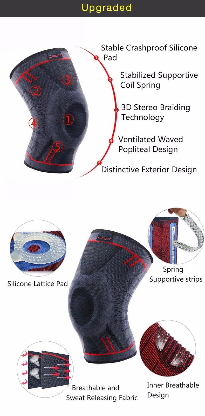 HTB1S9cqOpXXXXXmXFXXq6xXFXXXC - Kuangmi 1 PC Compression Knee Sleeve Basketball Knee Pads Knee Support