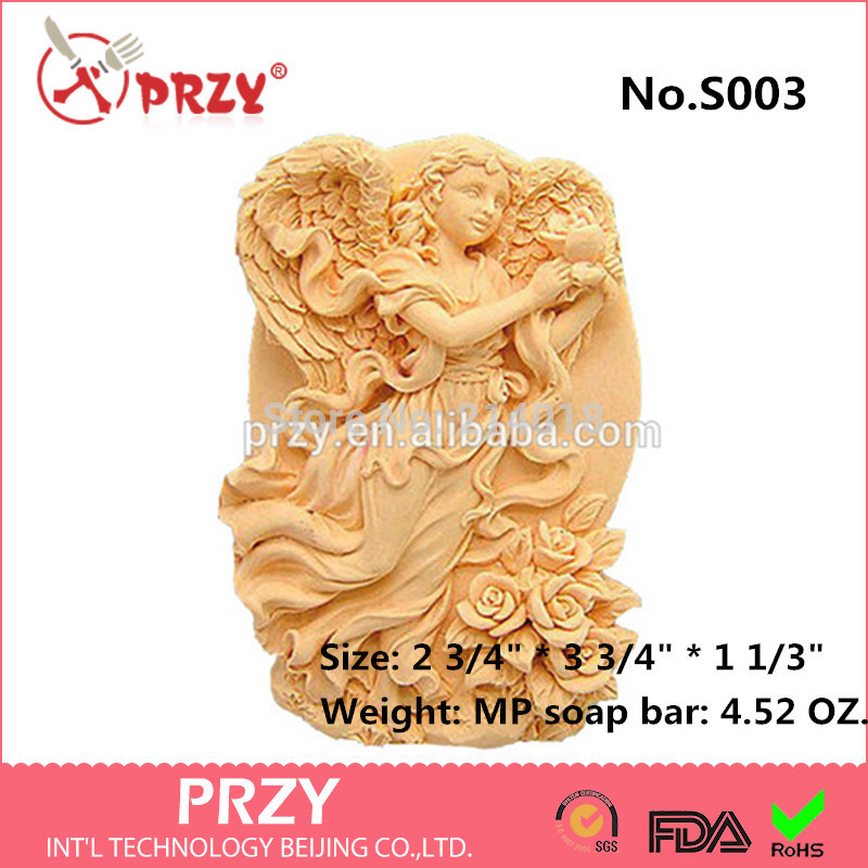 2D Silicone Soap Mold - Wings of Love - free shipping soap mold silicone soap molds girl angel No.S003