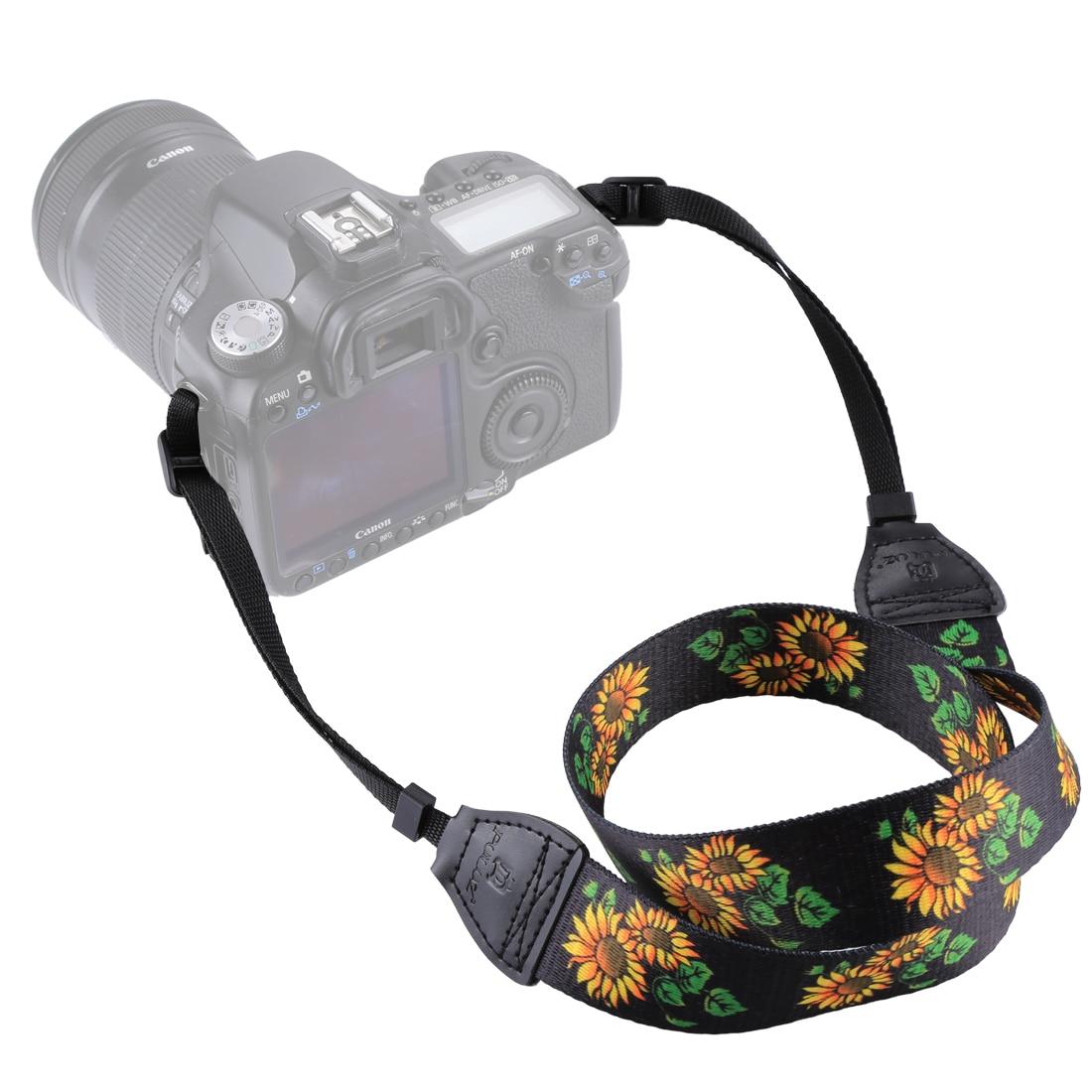 Cámara Ajustable Hombro Sling Cinturón Correa de Cuello Para Nikon Canon Sony DSLR FM