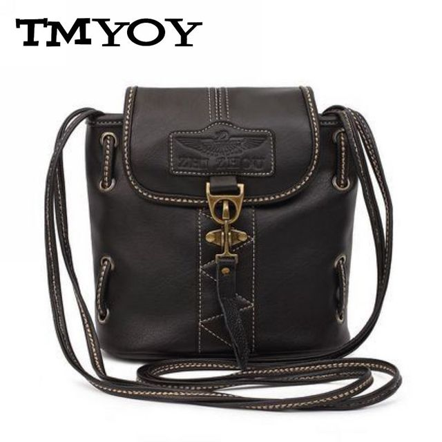 TMYOY 2017 High quality women handbags pu leather bags ladies brand bucket shoulder bag vintage crossbody bags for woman DB5304