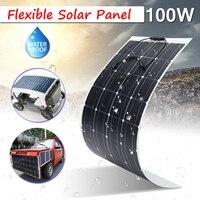 В 100 Вт 18 в полу гибкие солнечные панели от сетки 23.5% эффективность для дома RV лодка моно кремния водостойкие супер тонкий дизайн безопасн