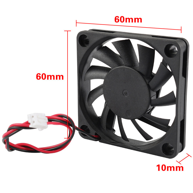 1/4Pcs <font><b>24V</b></font> USB 60mm <font><b>6010</b></font> DC Mini Cooling Cooler <font><b>Fan</b></font> Ball Sleeve Bearing 60x60x10mm QJY99 image