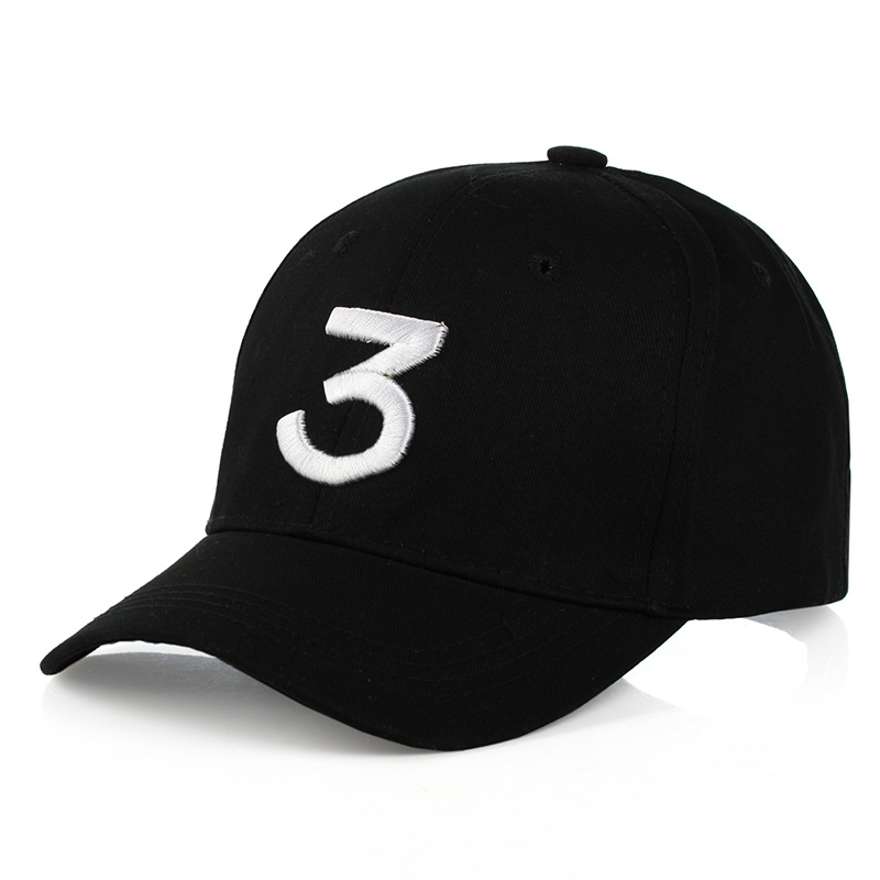 Popular chance the rapper 3 Hat Cap Black Letter Embroidery Baseball Cap Hip Hop Streetwear Strapback Snapback Sun Hat Bone стоимость