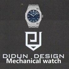 DIDUN Для мужчин s автоматические механические часы лучший бренд роскошные часы Для мужчин Сталь военные часы мужской Бизнес наручные водонепроницаемые