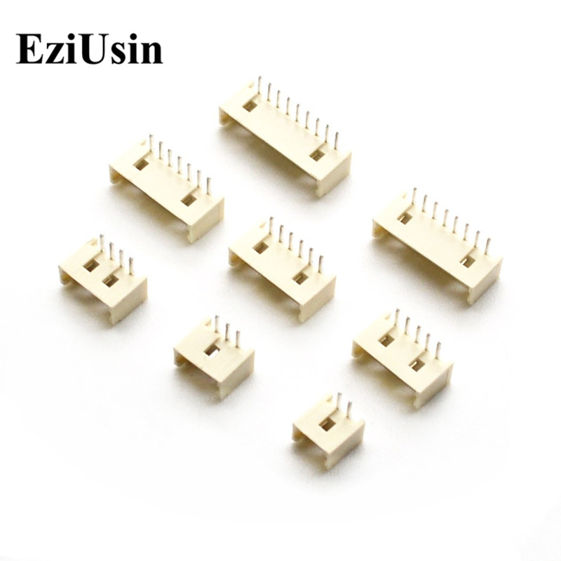 EziUsin 1.25 Pitch 1.25MM 90 Degrees Bend Curved Needle Connector Seat Socket 2P 3P 4P 5P 6P 8P 9P 10P 11P 12P Pin Header AW