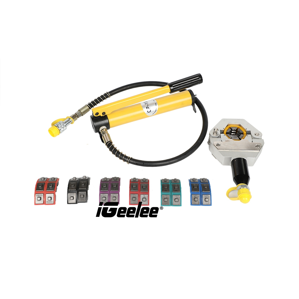 iGeelee Hydraulic-Hose-A-C-Crimping-Tool-With-Manual-Pump (6)