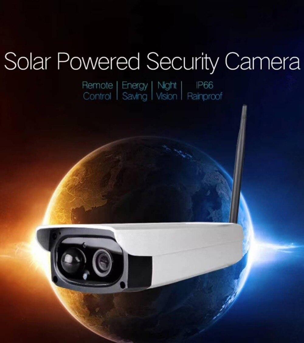 2MP 1080P Solar Power font b Wireless b font WIFI IP Camera Easy Install Bullet Camera