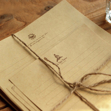 TIAMECH 12 Sheets/Lot Retro Kraft Paper Stationery Neoclassical Little Prince Tower