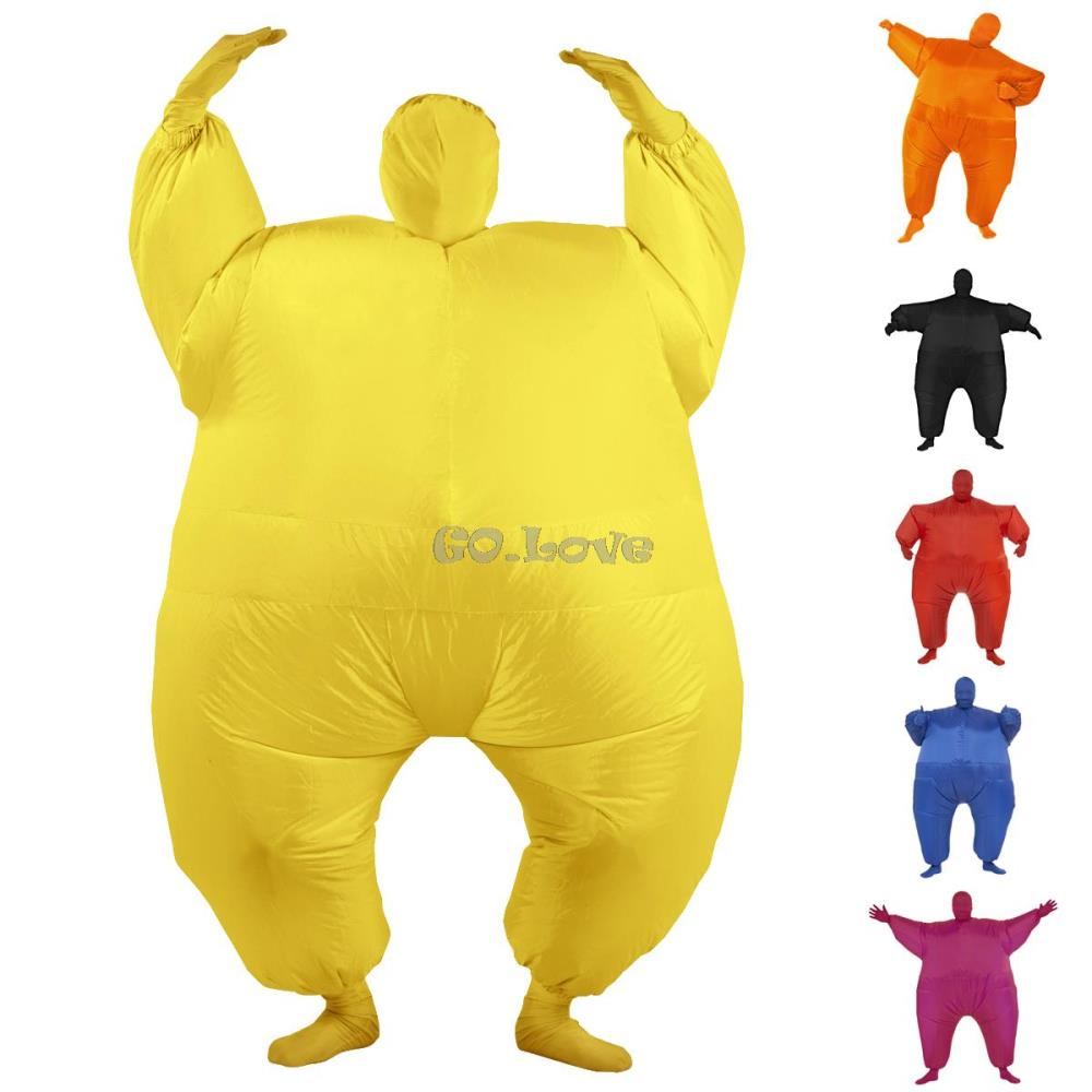 Halloween Costumes for Adult Chub Pure Color Sumo Suit Inflatable Blow Up Full Body Costume 6 Colors with Inflatable Pump-in Menu0027s Costumes from Novelty ...  sc 1 st  AliExpress.com & Halloween Costumes for Adult Chub Pure Color Sumo Suit Inflatable ...