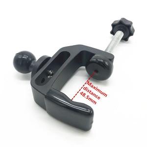 Image 1 - C montaż zacisku gumowa piłka głowy z 1/4 śruba adapter do gopro szyny słupy Bar muzyka mikrofon stoi ram góra