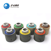 Z LION 2 Diamond Resin Drum Polishing Wheels 7pcs Set Zero Tolerance Wet Diamond Polishing Drums