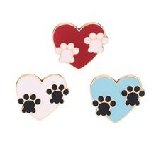 Dog Cat Claw Series Brooch Cute Toe Bean Team Love Paw Print Eagle Claw Twisted Face Dick Bag Zombie Face Enamel Pin Friend Gift(China)