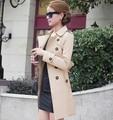 nova 2014 outono casaco outwear mulheres médio- longa sashes trench coat mulheres magras vestido casual casaco para mulheres htx00089