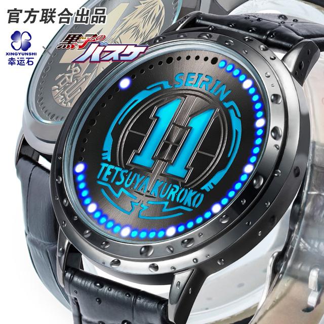 Kuroko de Basketball Xingyunshi esportes homens 30 M À Prova D' Água Profissional Digital grande dial horas militares relógios de pulso Luminoso