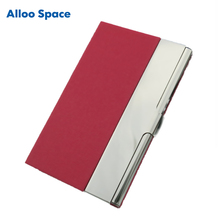 Alloo Space Creative Stainless Steel Business Card Holder Pocket Card Metal Folder Men Women Unisex Clamshell Credit Card Cases