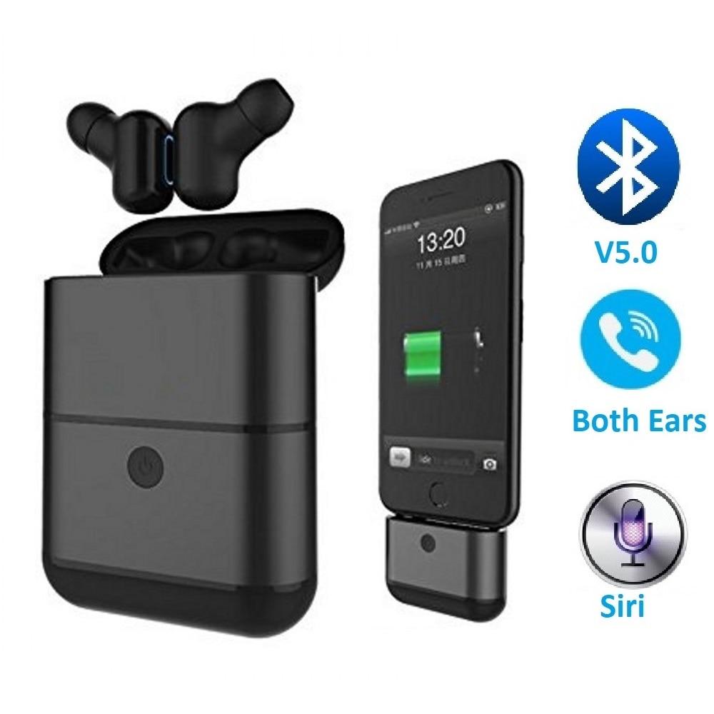 True Wireless Headphones Bluetooth 5 0 Earphone TWS Earbuds Noise Canceling Handsfree Headset for Apple iPhone