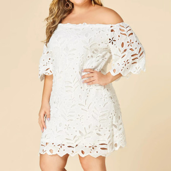 Solid Plus Size Maternity Dress 2