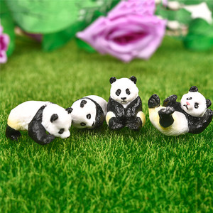 4 шт./компл. Милый Панда мох микро Ландшафтный Террариум фигурка украшение Смола забавная панда Младенцы украшение для сказочного сада Миниатюрный