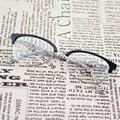 Chashma Marca TR 90 Tartaruga Preto Moda Olho Óculos de Meia Armação Dos Óculos para as Adolescentes