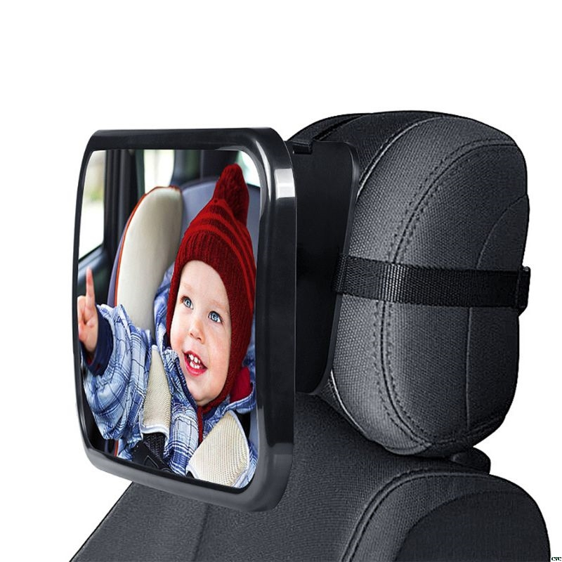 Car Baby Safety Rear View Mirror 360 Degrees Rotating Baby Observation Car Endoscope Rear View Solid Auxiliary Mirror