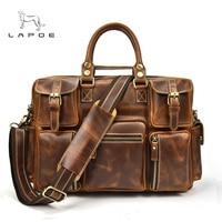 Men's Briefcase Tote messenger bag travel laptop bag men document business briefcase male Genuine leather Attache Portfolio Bags