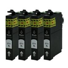 4 Black T0711 Ink Cartridge For T Stylus DX7450 DX8400 DX8450 DX9400