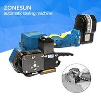 Zonesun p323 المحمولة أداة الربط الكهربائي بطارية بدعم البلاستيك الاحتكاك لحام أدوات الربط ل 16-19 ملليمتر حزام اليد