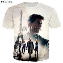 YX GIRL Drop shipping 2018 summer New Fashion Mens Womens t-shirt Tom Cruise  3d Print casual O-neck T shirts 15aa4819373d