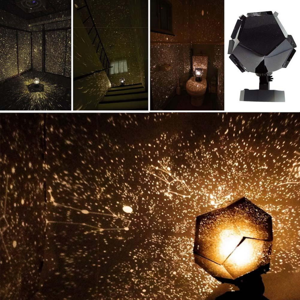Celestial Star Astro Sky Projection Cosmos Night Lights Projector Night Lamp Starry Romantic Bedroom Decoration Lighting Gadget