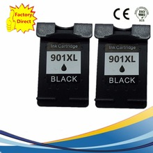 2 Pack Black Ink Cartridges For HP 901 XL 901XL HP901 HP901XL Officejet J4524 J4535 J4540 J4550 J4580 J4585 J4660 Inkjet Printer