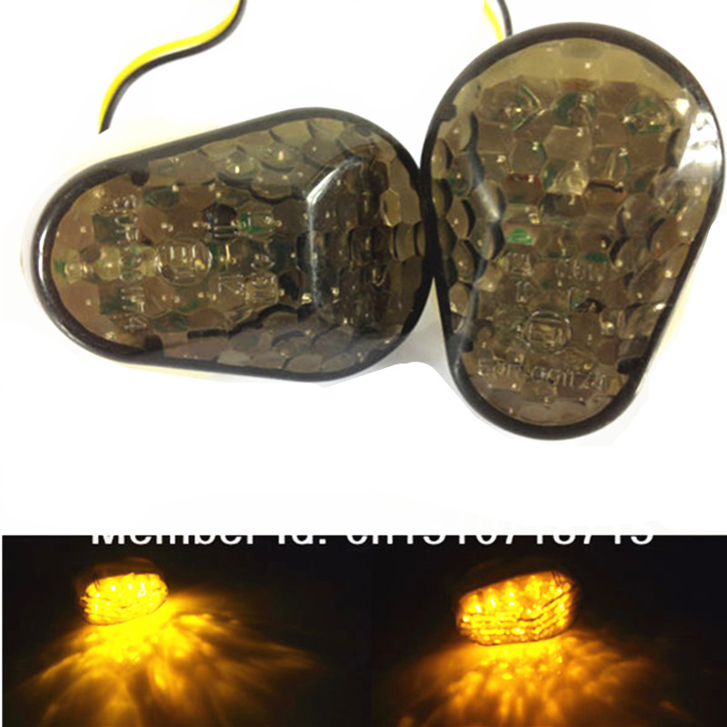 Motorcycle LED Flush Mount Turn Signal Indicator Light For Kawasaki Ninja ZX6R ZX9R ZX7R ZX10R ZX12R