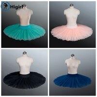 Free Shipping Adult Blue Half Ballet Tutu White Ballerina Tutus Professonal Half Pancake Platter Tutu For