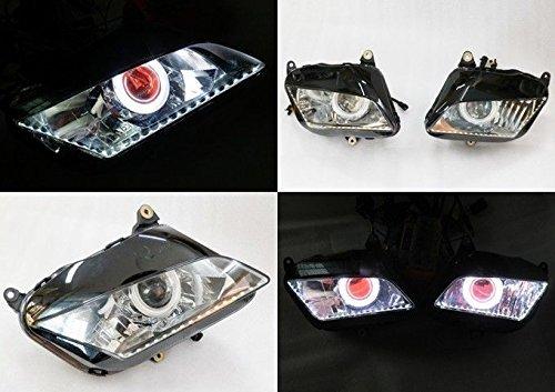 Angel Eye HID Projector Demon Eye Headlight Assembly For 2007-2012 Honda CBR600RR