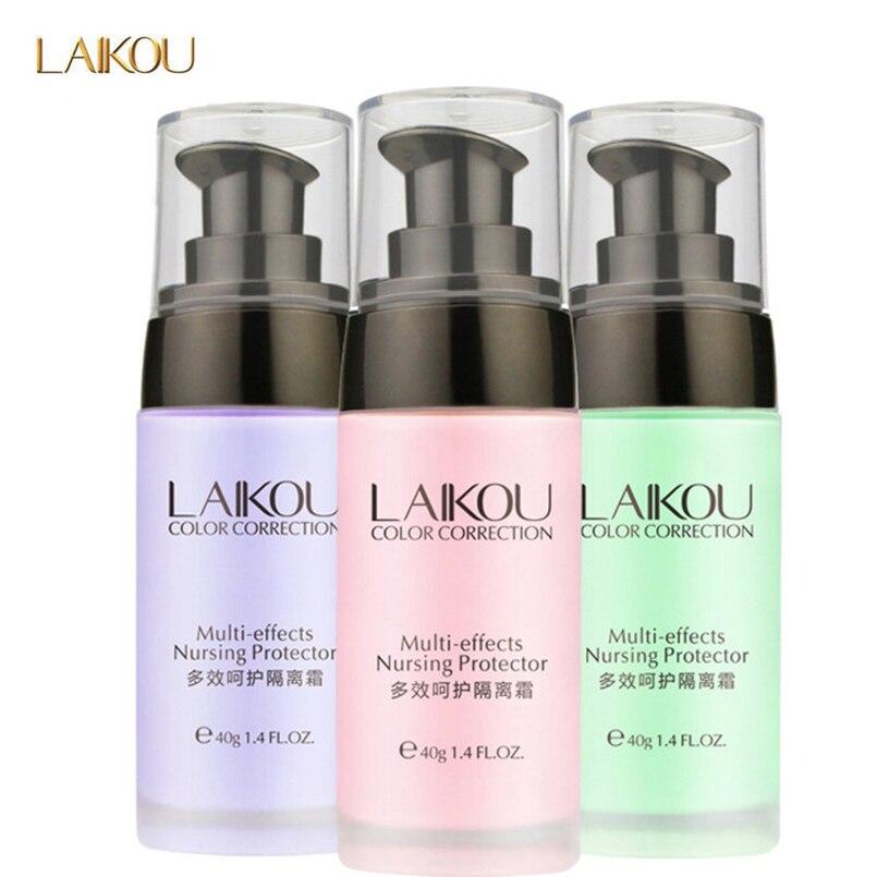 LAIKOU Brand Makeup Face Foundation Base Face Liquid Foundation Waterproof Whitening Countour Foundation Base Makeup Cosmetics puff liquid foundation 216