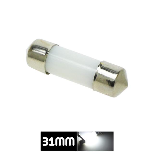 LED Festoon Dome 31mm 36mm 39mm 41mm c5w 212-2 6418 Cold White Reading License Plate Lamp led Light Bulb Milky Cover Bulbs 12V