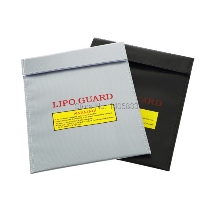 10pcs RC Lipo Battery Fireproof Safety Guard Safe Charge Bag Charging Sack 18x23cm Black / Silver