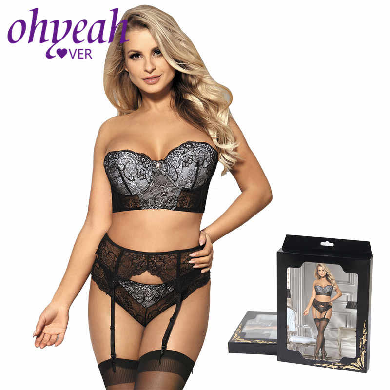 5a947cfdf04 Ohyeahlover Women Lace Bra Set Underwear Stapless Bra Panty Lingerie Set  Sexy Striped Intimates Sets With