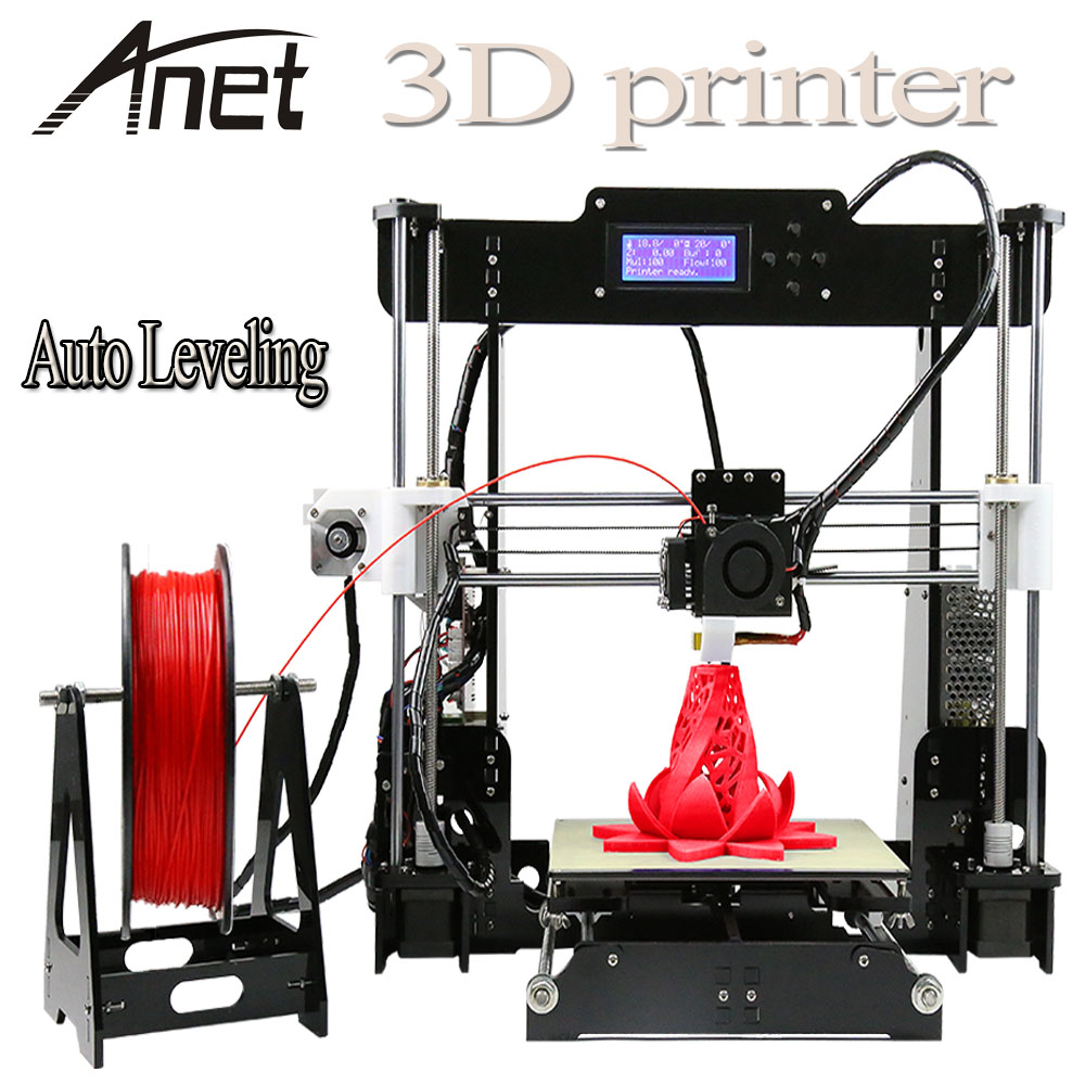 Auto level & Normal Anet A8 Full Acrylic High Precision Reprap Prusa I3 DIY 3D Printer KIT& Filament &LCD &8G SD Card Free