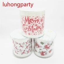 3packs 90m cartoon Christmas design Printing Toilet Paper Tissues Roll Novelty Tissue Wholesale