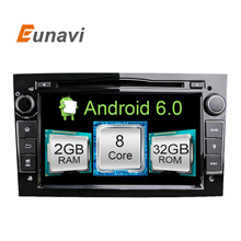 Eunavi HD 1024×600 Octa core 8 Android 6.0.1 Car DVD плеер для Opel Corsa Vectra C D Meriva Vivaro Tigra Signum Радио GPS Navi