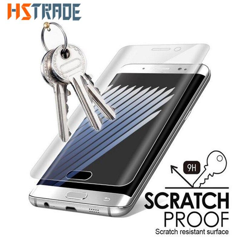 dad832e58a6 Para Samsung Galaxy S 6 borde borde S6 Plus Vidrio Templado 3D Superficie  Curva de La Cubierta Completa S7 Película Protectora Protector de Pantalla  de ...