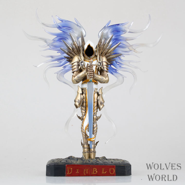 Game WOW Dark Seraphim Tyrael Archangel 28cm PVC Action Figure Toys Gifts Model Collections Free Shipping GS003 ...