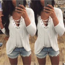 Hot Sale 2018 New Fashion Winter Long Women Knitted Pullovers Tops V -Neck Slim Warm Sweaters