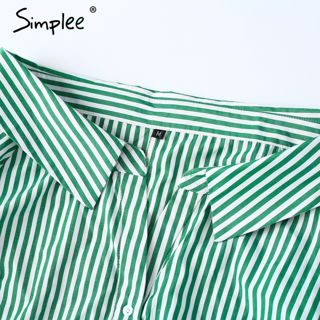 Simplee Elegant striped blouse shirt Women long sleeve cool shirts blusas Summer 2017 casual soft female camisa women tops new
