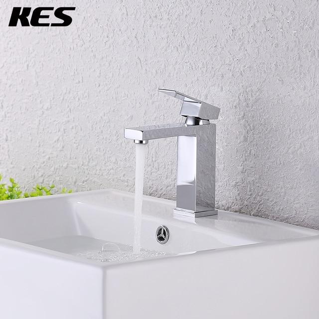 Kes Lead Free Brass Bathroom Sink Faucet Single Handle Lavatory